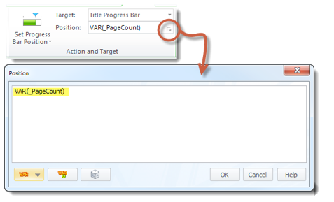 Use Variable to Set Progress