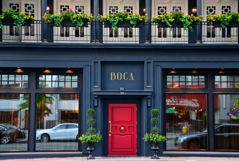 Boca restaurant exterior downtown