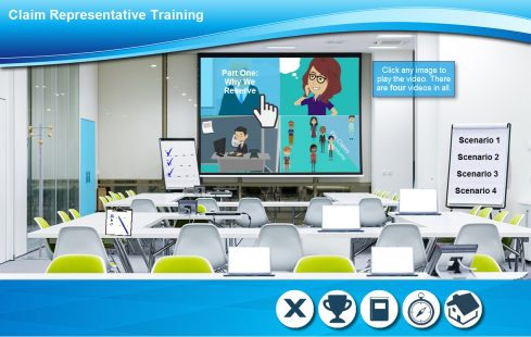 The virtual training room