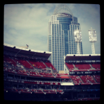 Reds baseball stadium at the banks