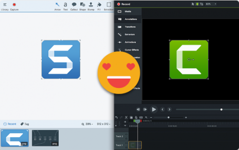 Snagit and Camtasia